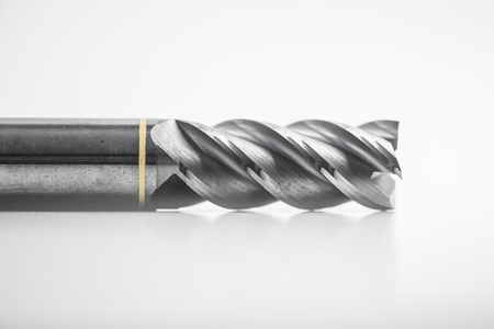 end mill: End mill cutter, isolated on white background