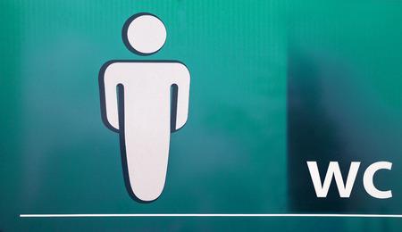for men: Board with symbols for men restroom