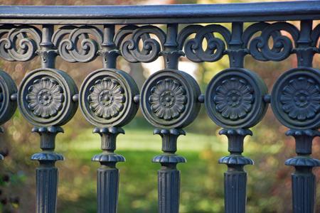 railing: Iron ornaments on a railing Stock Photo