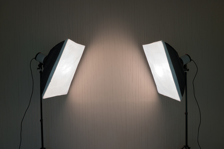photographic: Photographic LIghting - Two Studio Lights with Soft Boxes on Tripods