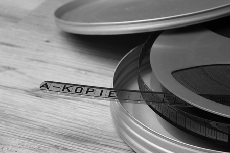 motion picture: Old motion picture film reel