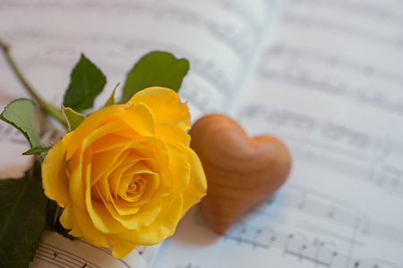 Heart and yellow rose on a sheet of music love song stock photo heart and yellow rose on a sheet of music love song stock photo 51601610 mightylinksfo