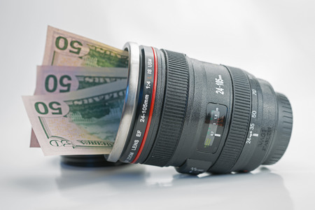 50 dollar bill: Concepts of money that can be earned with photography