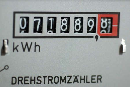 energy needs: Electricity meter measures the current consumed