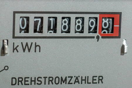electricity meter: Electricity meter measures the current consumed