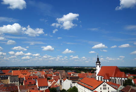 saxony: View from above of Torgau, Saxony, Germany