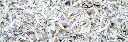 shredded paper: Closeup of shredded paper documents