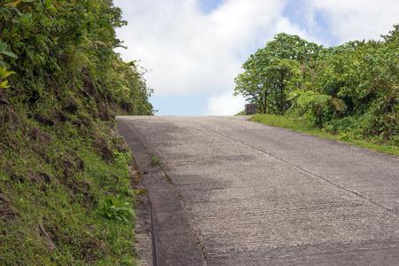 dominica: Winding road through Dominica, Caribbean islands