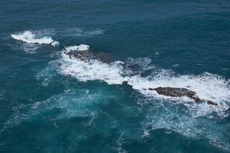 breaking waves: Breaking waves at rocky coast of Madeira Island, Portugal