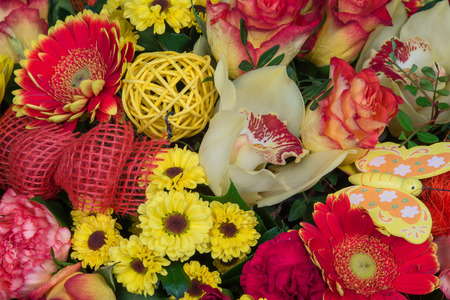 Bunch of colorful flowers, flower bouquets