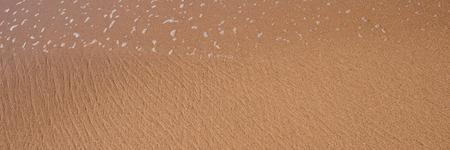 beach panorama: Perfect brown sand and crystal water beach, Panorama