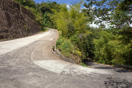 curve road: 180 degree curve of the mountain road