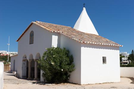 da: Chapel nossa senhora da rocha. Region Algarve. Portugal Stock Photo
