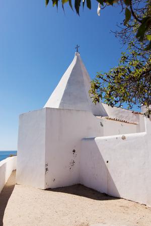 rocha: Detail of Chapel nossa senhora da rocha. Algarve. Portugal Stock Photo