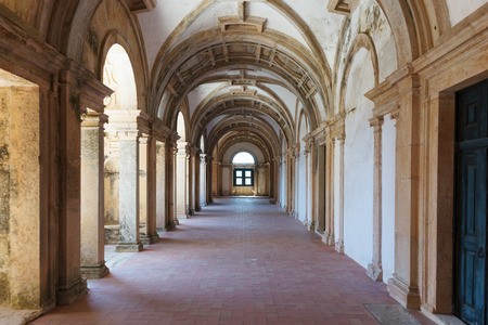 cristo: Long portico in the Convent of Christ (Convento de Cristo) in Tomar, Portugal