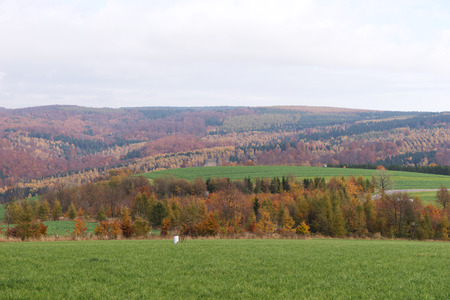 erzgebirge: Views of the heights of the Erzgebirge in autumn, Saxony, Germany