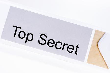 Office folder with the label Top Secret on white background Banco de Imagens