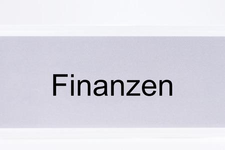 finanzen: File folder Finances (Finanzen) in German language