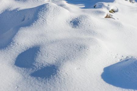Paisaje nevado de invierno con nieve se desplaza en el bosque