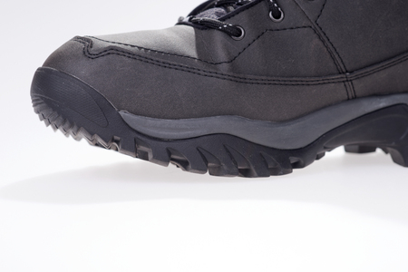 season specific: Gray winter shoe with grippy running sole