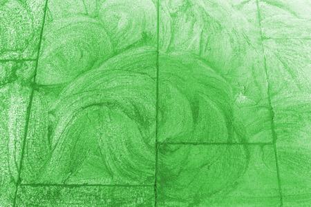 Green sidewalk chalk drawing background