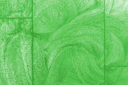 scraped: Green sidewalk chalk drawing background