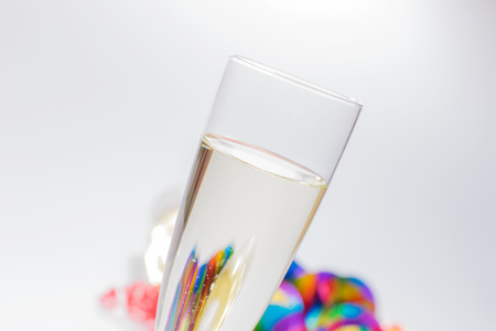 prickling: Closeup of a filled champagne glass