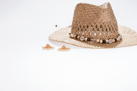 Straw hat big and small, metaphor to big and small business, or advantage and disadvantage concept