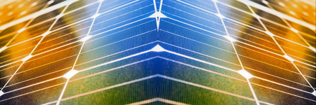 voltaic: Modern architecture with solar panels, panoramic image