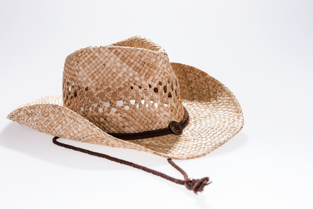 ranch background: Fashionable cowboy hat designed for a man Stock Photo