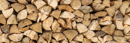Firewood stack for use as a background