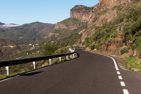 gran canaria: Road in the mountains on the island of Gran Canaria