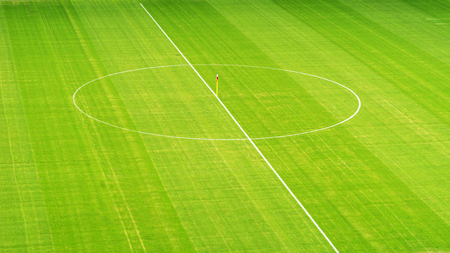 Soccer field from above, center circle