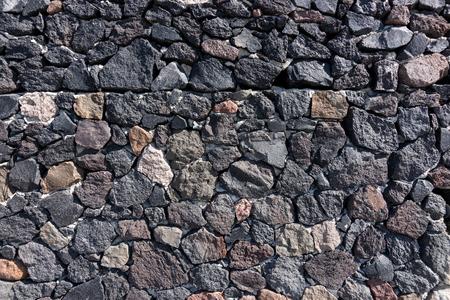 자연 어두운 돌 벽 배경, 자연적인 돌 질감 스톡 콘텐츠
