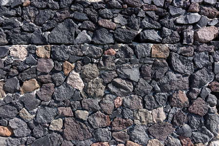 Natural dark stone wall background, natural stone texture