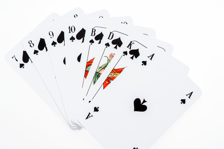 All pik Skat cards from the seven to the ace, Skat is a german card game