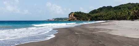 Tropical beach with name - beach number 1 on the island of Dominica