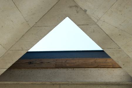 Empty triangle window in the modern interior Banque d'images