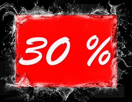 30 percent off shopping day icon in red 写真素材
