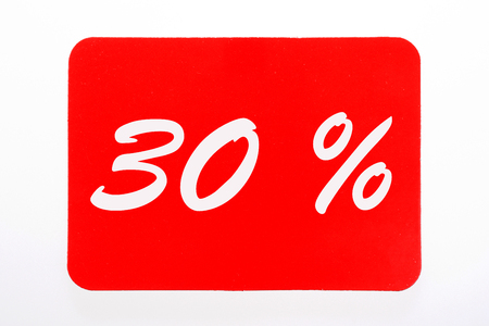 30 percent off shopping day icon in red Stock Photo
