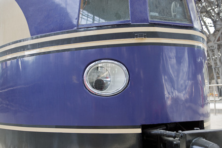 Vintage headlight of old train - retro spot light