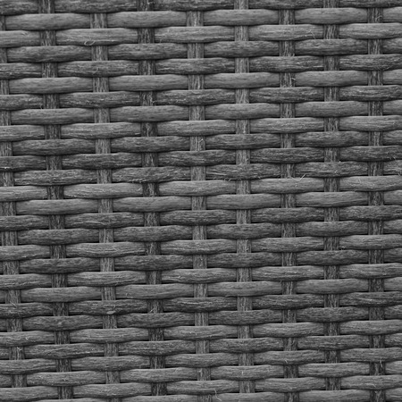 Black wicker of furniture for background and texture