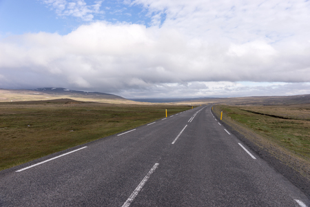 Long highway number 1 on the island of Iceland Фото со стока