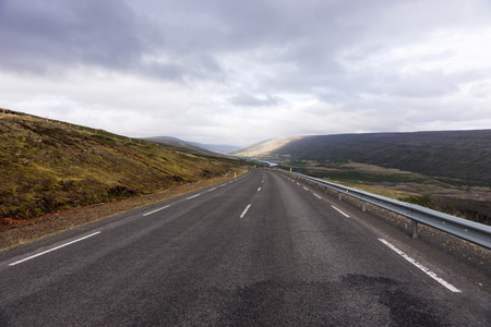 Long highway number 1 on the island of Iceland Stockfoto