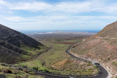 View from the Mirador de Femes in Lanzarote. Canary Islands Stock fotó