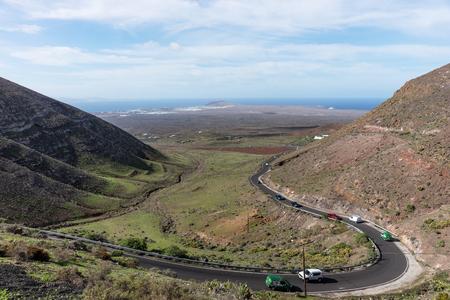 View from the Mirador de Femes in Lanzarote. Canary Islands