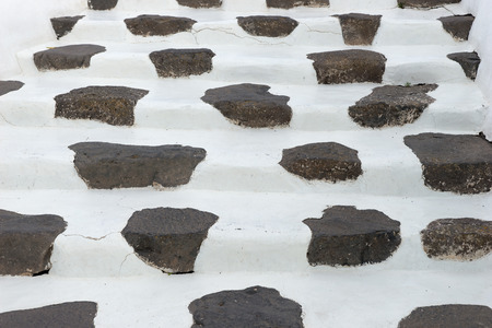 Stone steps built in typical canarian style. Lanzarote. Canary Islands. spain