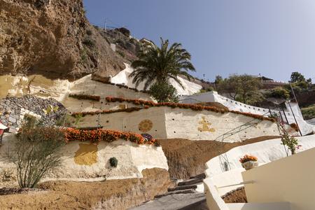Artenara. Highest mountain village in Gran Canaria. spain Stock Photo