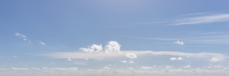 Panoramic picture blue sky and clouds as background