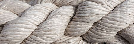 Closeup of strong rope, use as panoramic background Archivio Fotografico - 129479490